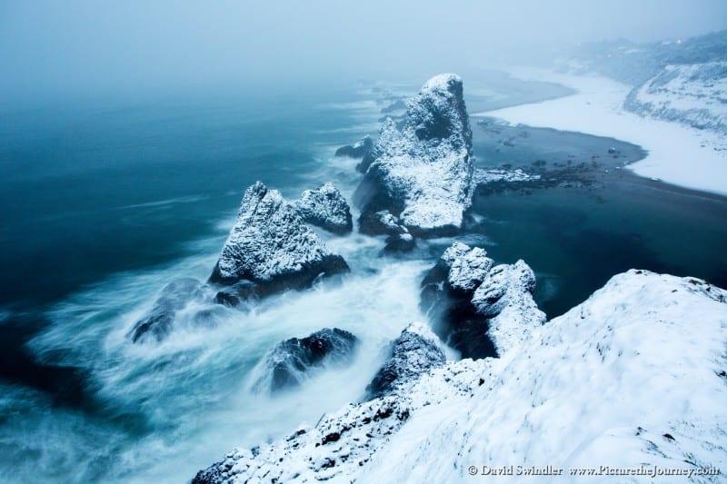 Snowy Morning at Seal Rock