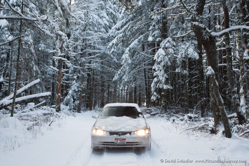 Winter Driving in Silver Falls