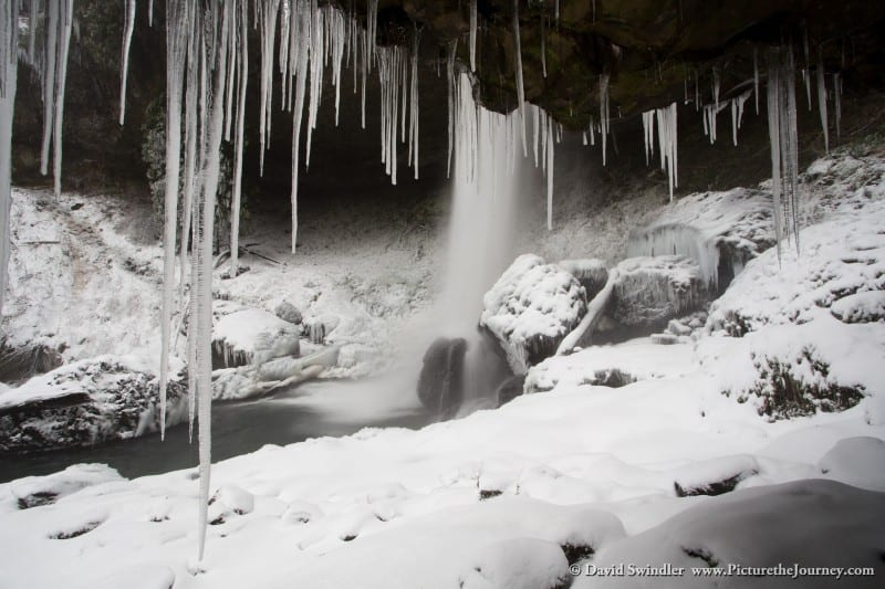 Icicles Under North Falls