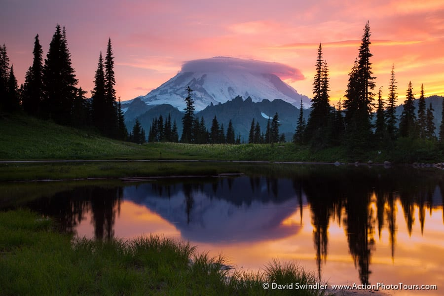 Upper Tipsoo Lake Sunset