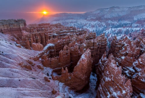 Bryce Canyon Sunrise Winter In The Desert Photo Workshop