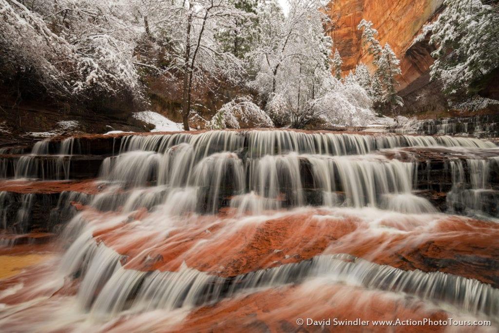 Archangel Falls in Winter