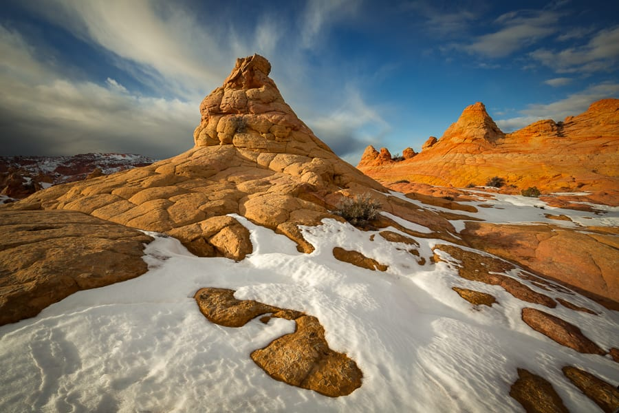 I ran across this image yesterday from South Coyote Buttes that I took last winter. I can't wait for the winter season to begin! It's a great time to visit Southern Utah as the crowds are gone, temperatures aren't hot, and you sometimes get nice snow like this!