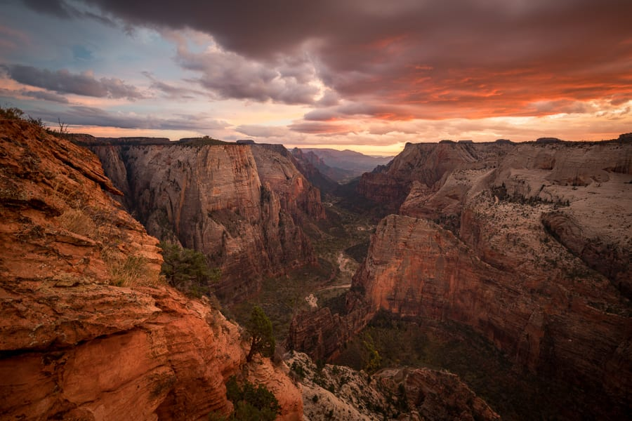 Zion National Park Observation Point Sunset
