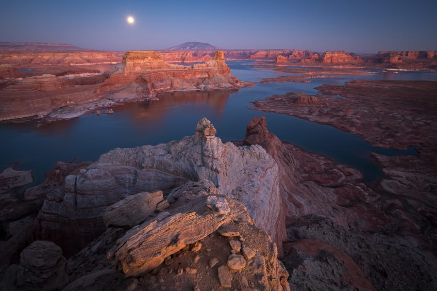 Supermoon Over Lake Powell