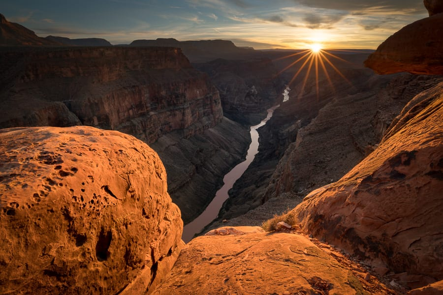 Winter Sunset Toroweap Grand Canyon
