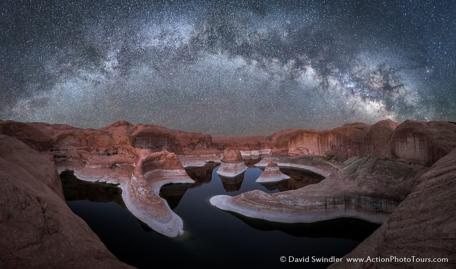 Reflection Canyon Milky Way Pano