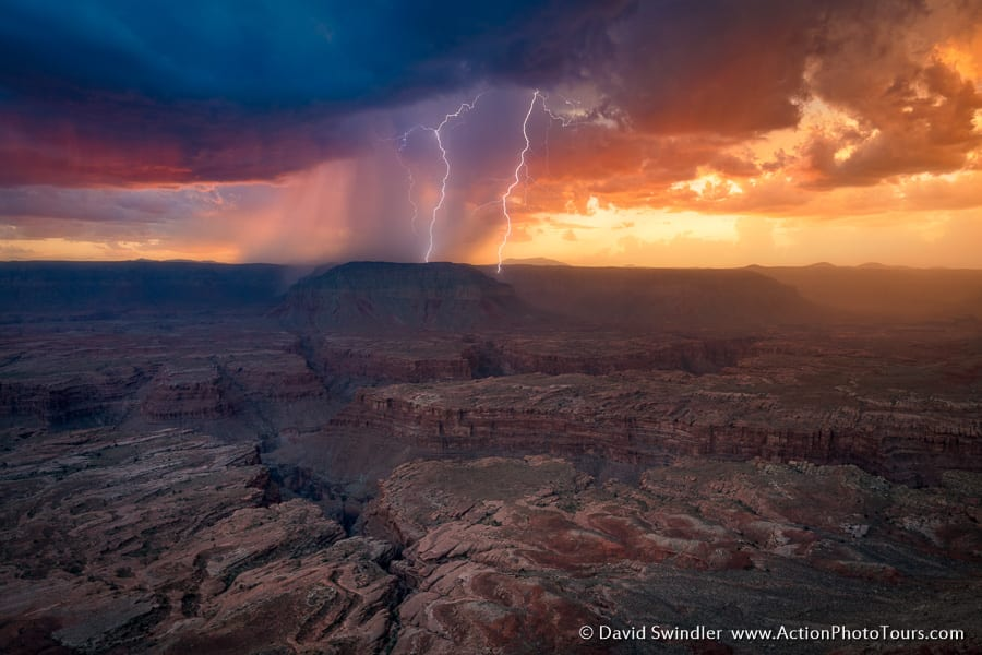 Photographing Lightning Grand Canyon