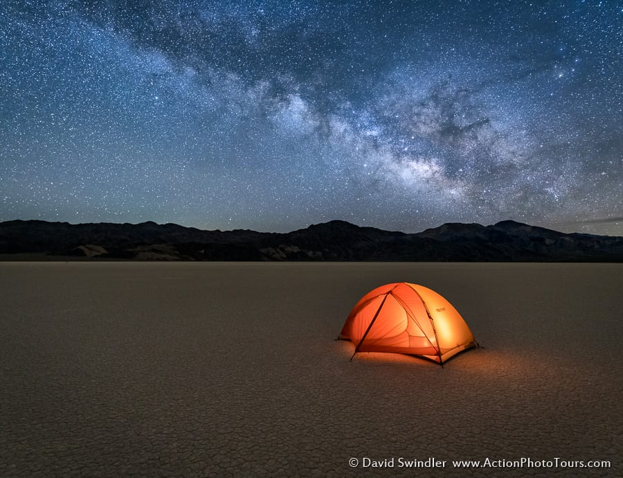 Tent with Milky Way Death Valley
