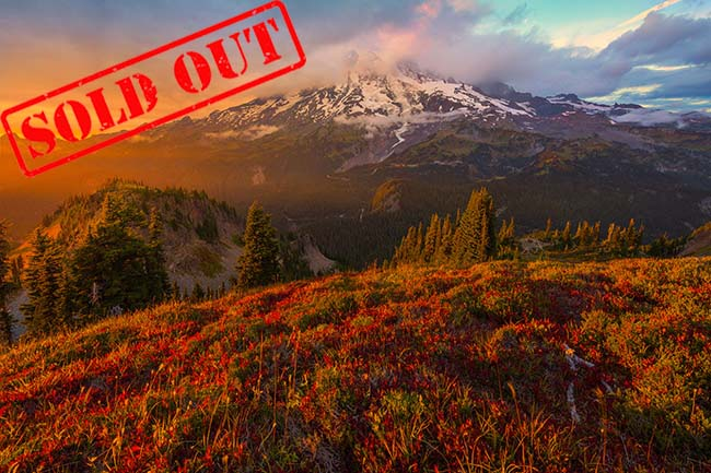 Images from Pinnacle Peak trail on Mount Rainier in the Pacific Northwest Of Washington State