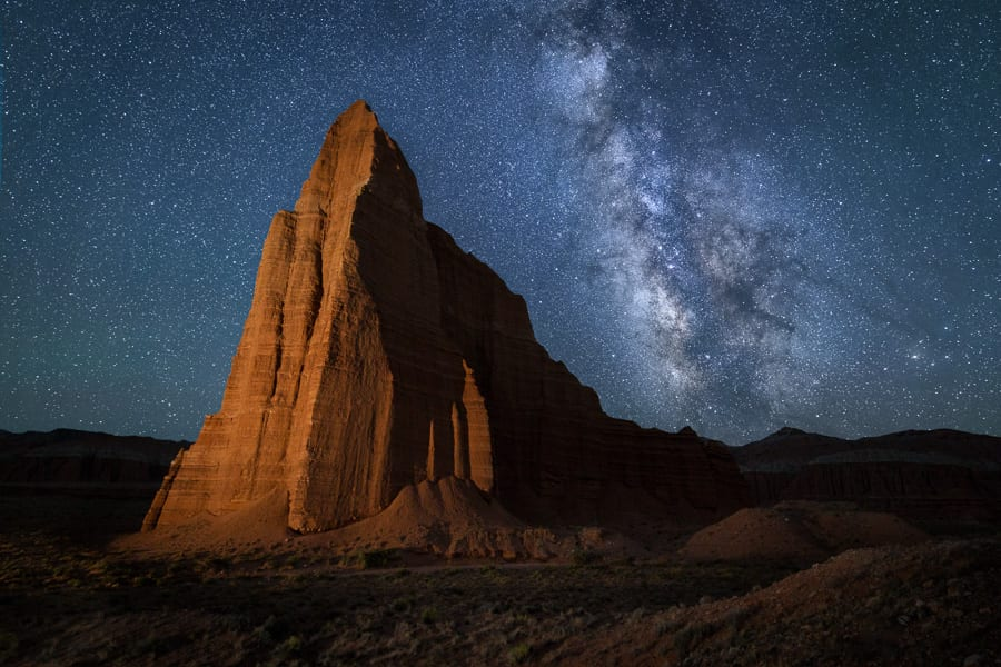 Long Exposure Noise Reduction Capitol Reef Milky Way