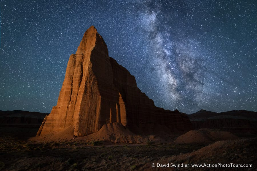 Capitol Reef Milky Way Cathedral Valley