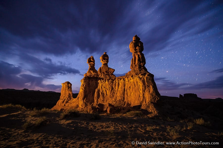 Beyond the Badlands Photography Workshop Goblin Valley Night