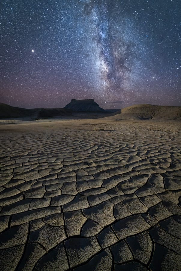 Mud Cracks Milky Way Beyond the Badlands Photography Workshop