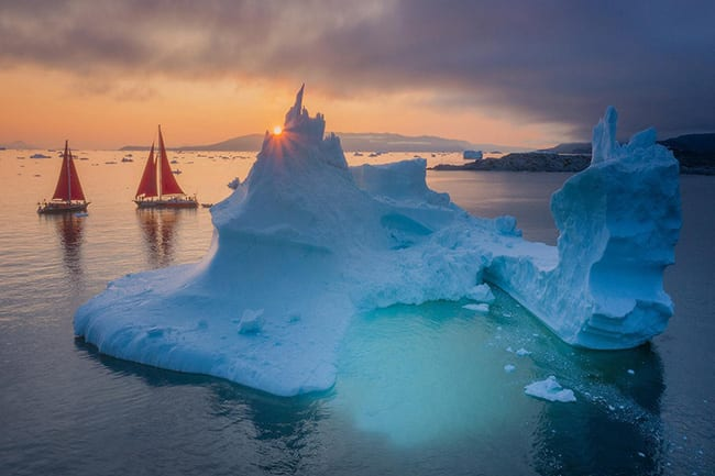 Red Sailboats - Greenland