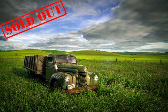 "We just finished our second Palouse Workshop of 2020 and everyone had a great time chasing crazy weather, exploring the countryside, and photographing the beautiful landscapes! This old truck was a workshop highlight, set among the verdant green hills with dappled light and beautiful skies. We had big smiles on our faces and it didn't matter that our pants were soaking wet from walking through the tall grass!  Sometimes it feels good to be a ""kid"" again.  We have dates set for our 2021 Palouse Workshops - one for spring greenery and the other for the harvest. Our loyalty group will get notification this week and the general mailing list for next week. If you're not already on our email list, just follow this link:  https://mailchi.mp/actionphototours/6xxbe3zqgj"