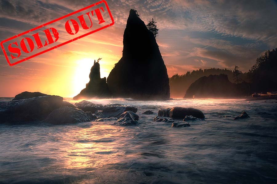 Rialto Seastacks As Sun Begins To Descend_web sold out