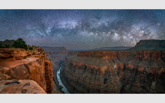 Toroweap Overnight Photo Workshop Milky Way Pano