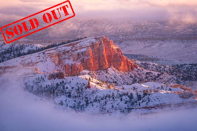 One of my favorite images from Bryce Canyon last winter with the Sinking Ship all surrounded by morning fog.
