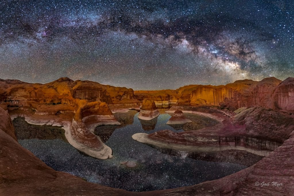Reflection Canyon Milky Way Pano Gail Myer