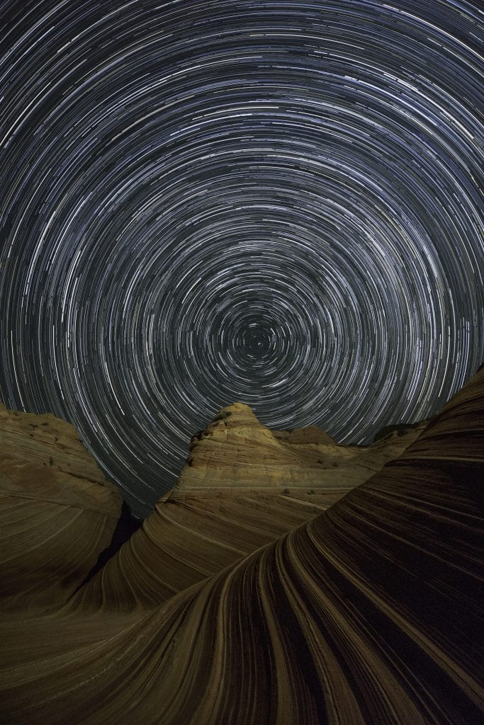 Star Trails at the Wave Tyler Bliss