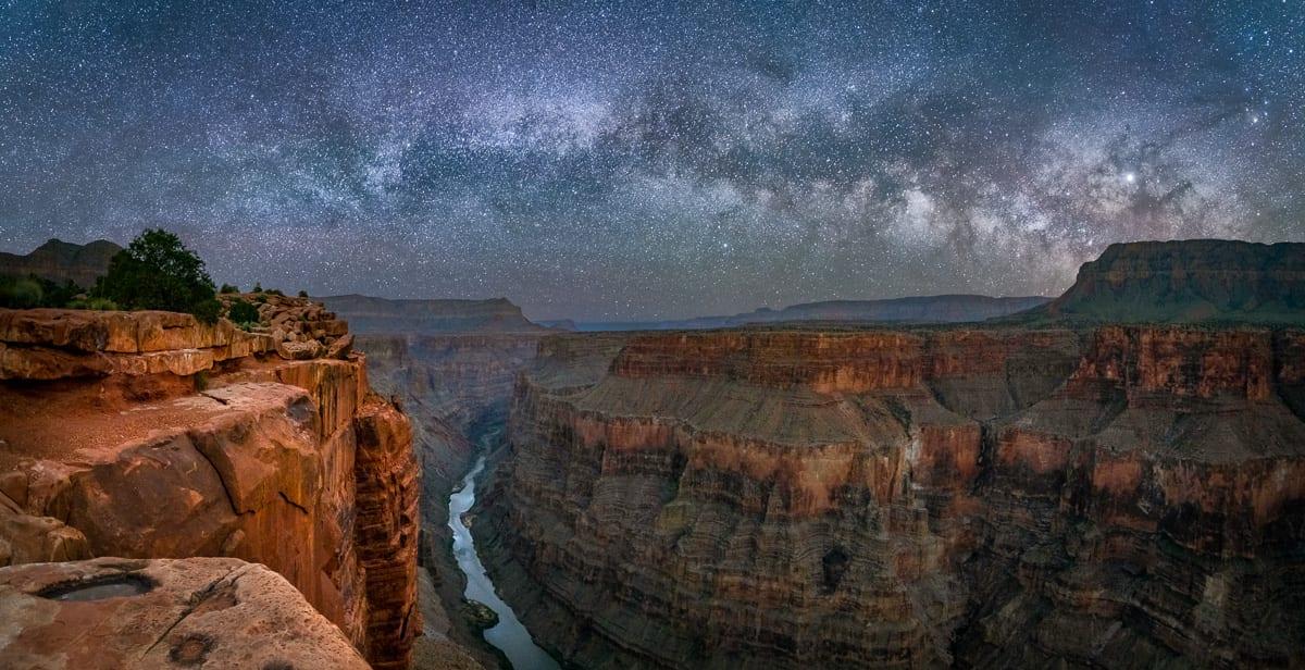 Toroweap Overnight Photo Tour Milky Way Pano Night Grand Canyon