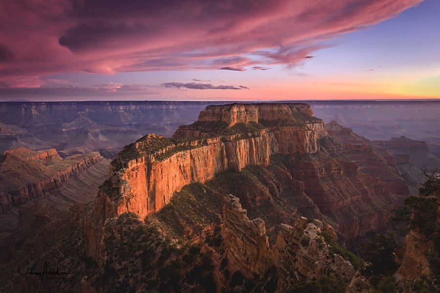 Grand Canyon Photo Workshop Wotons Throne Sunset