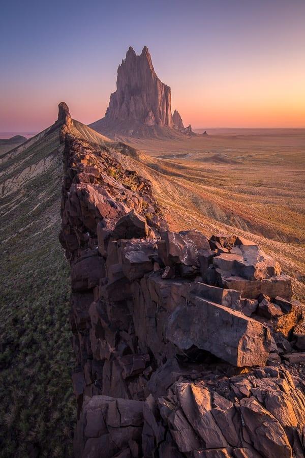 Bisti Badlands New Mexico Photo Workshop Shiprock
