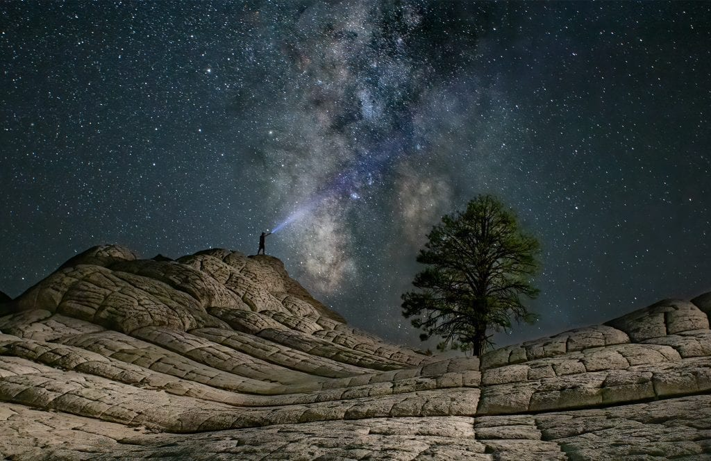 Milky Way over White Pocket