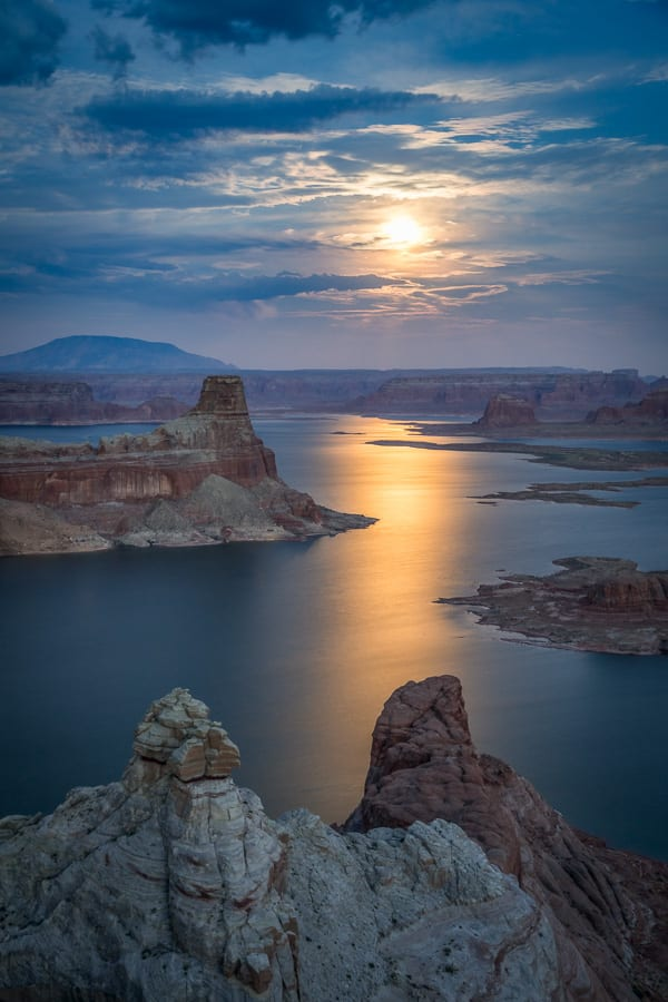 Here's a shot of the moonrise over Lake Powell a few days ago.
