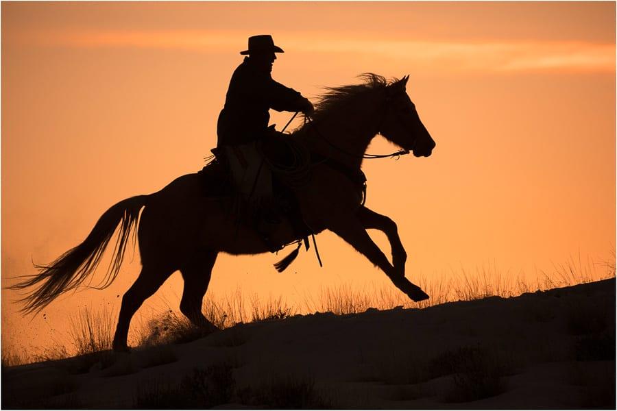 Horse Ranch Winter Photo Workshop Horse Rider