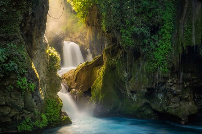 Misty Waterfall Chamber Mexico