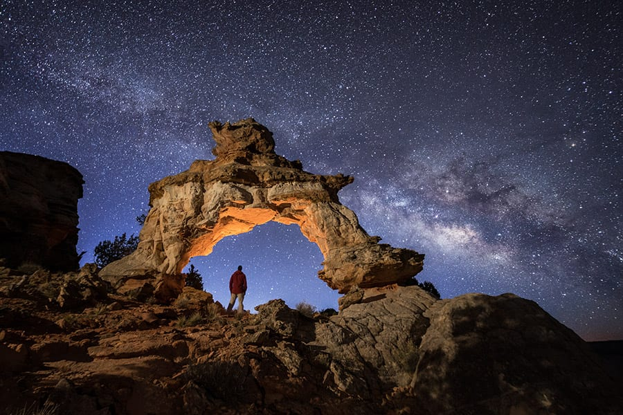 Southern Utah Night Photography Workshop Milky Way Arch Action Photo Tours