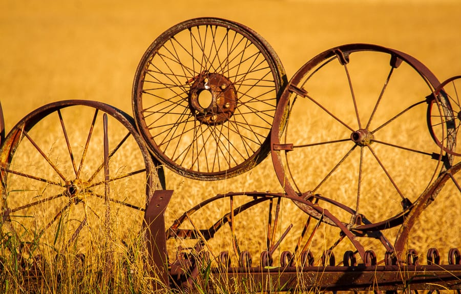 Palouse Harvest Photo Workshop Wheel Fence