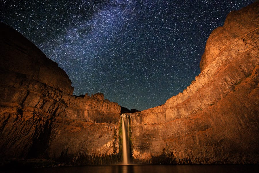 Palouse Harvest Photo Workshop Palouse Falls Milky Way