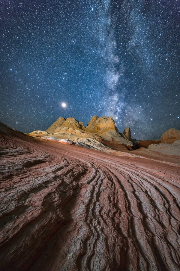 White Pocket Action Photo Tours Overnight Camping Night Photography Stars