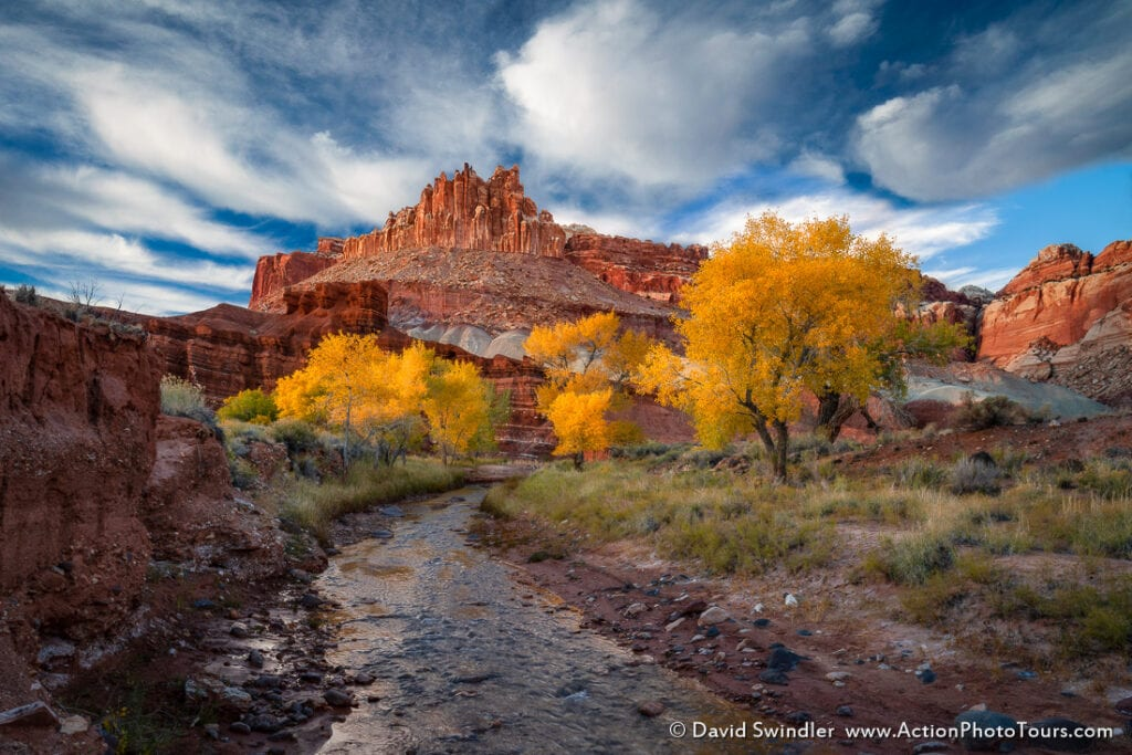Fall color photography southern Utah Capitol Reef