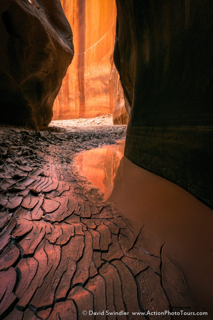 Landscape Photography Composition slot canyon reflected light