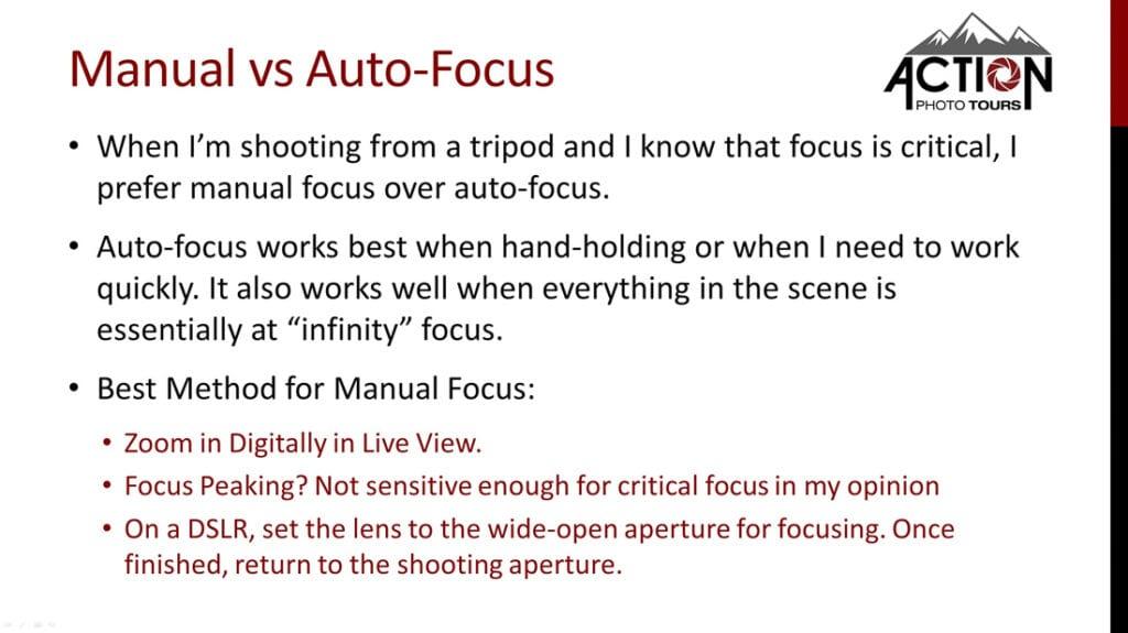 Manual vs Auto-Focus