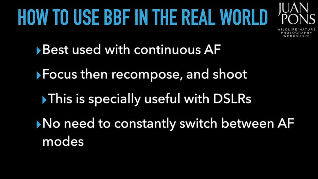 how to use back-button focus