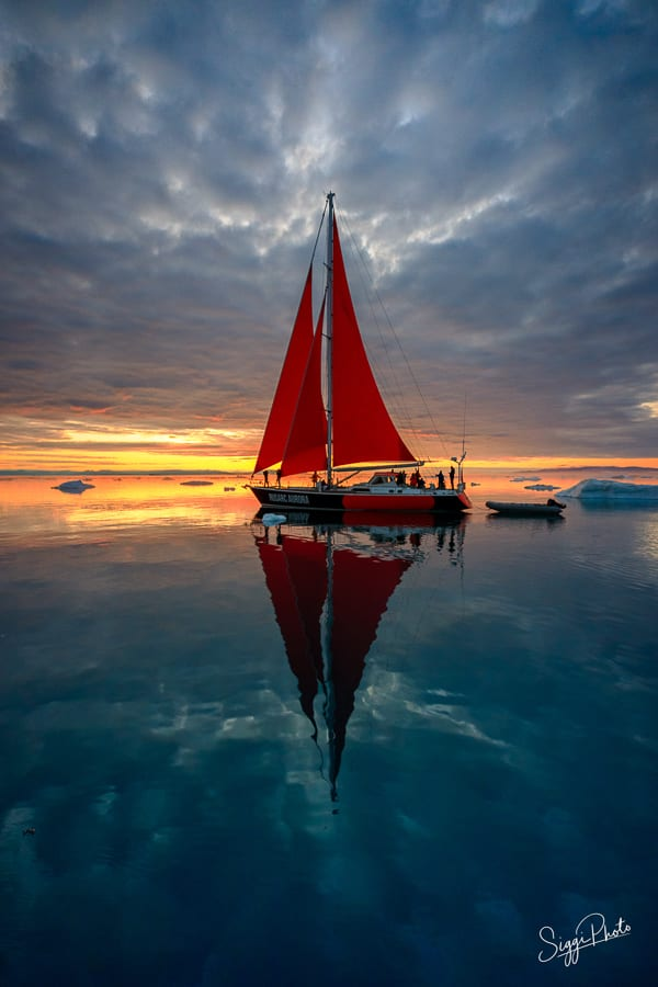Red Sails at Sunset - Greenland