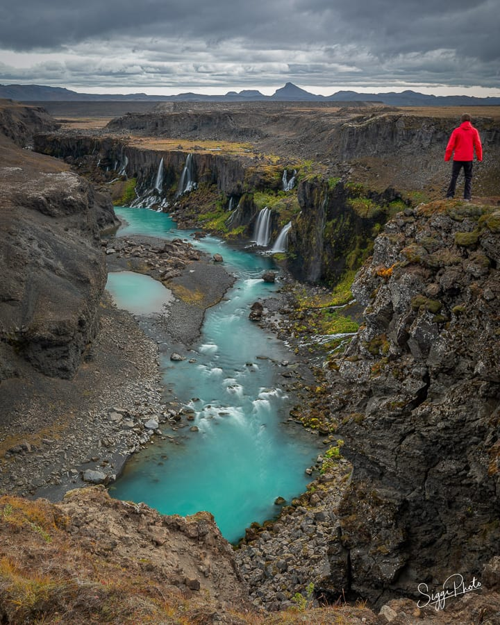 Waterfall - Iceland Highlands