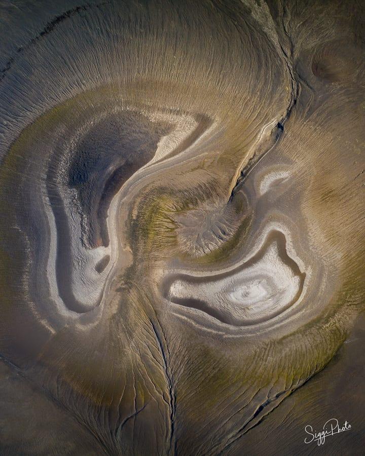 Aerial Swirls - Iceland Highlands