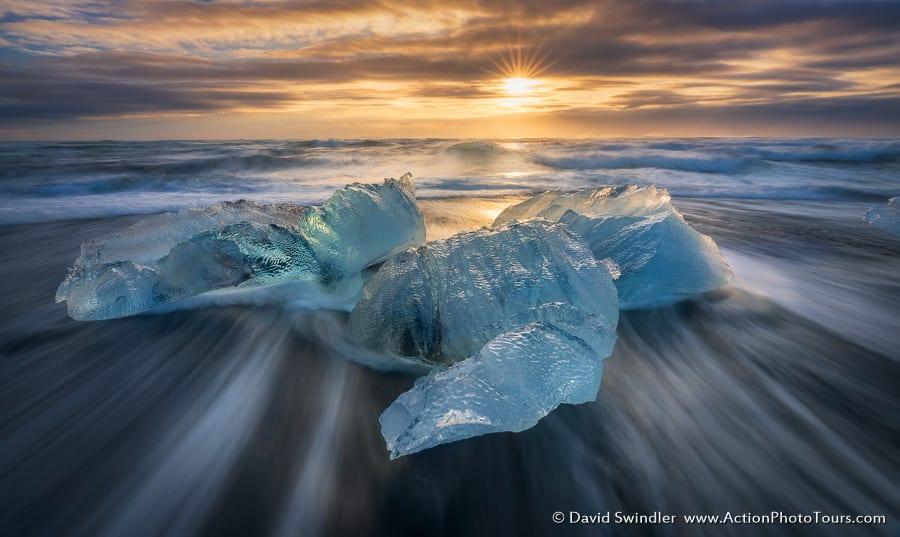 Icebergs - Diamond Beach