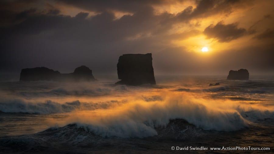 Sea Swells at Sunset