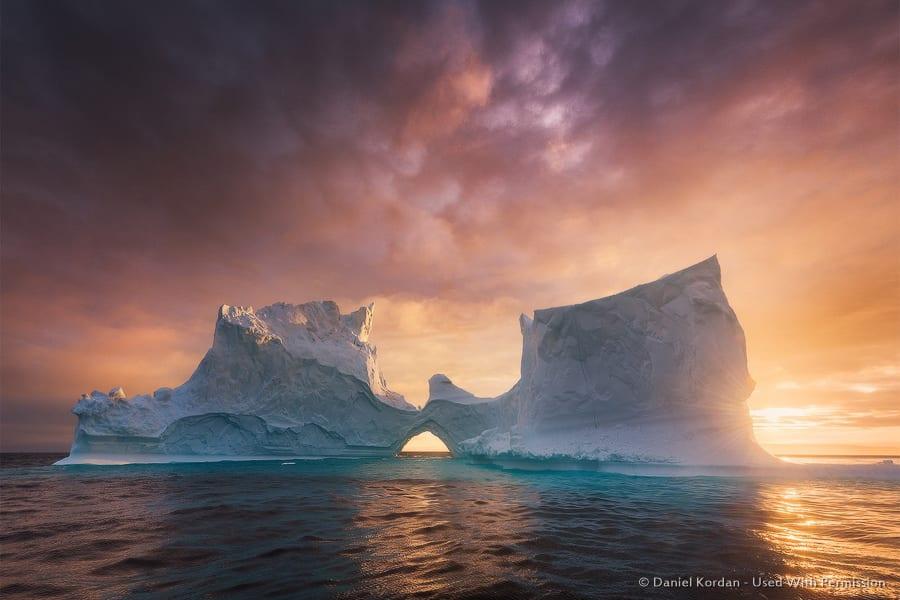 Icebergs at Sunset - Greenland
