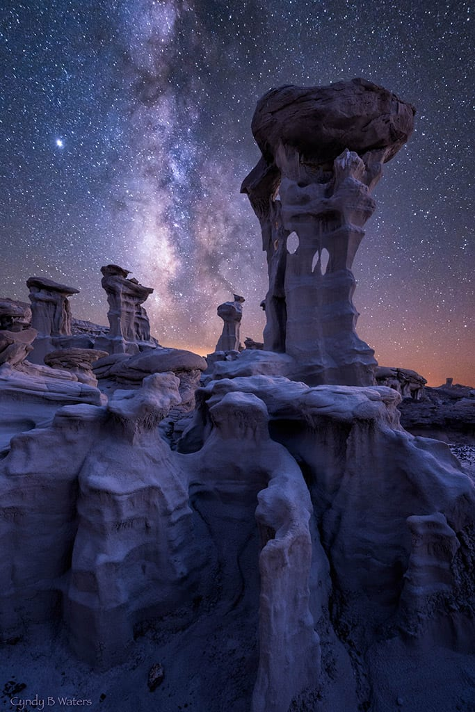 Grand Prize Action Photog Awards Cyndy Waters Alien Throne Milky Way