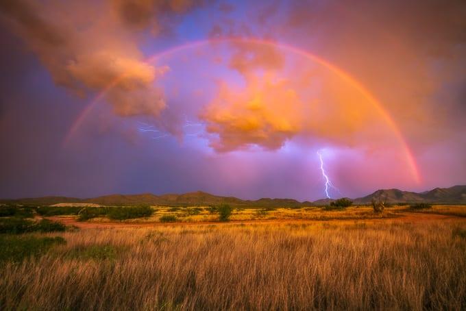 Lightning Rainbow Storm Chasing Action Photo Tours David Swindler