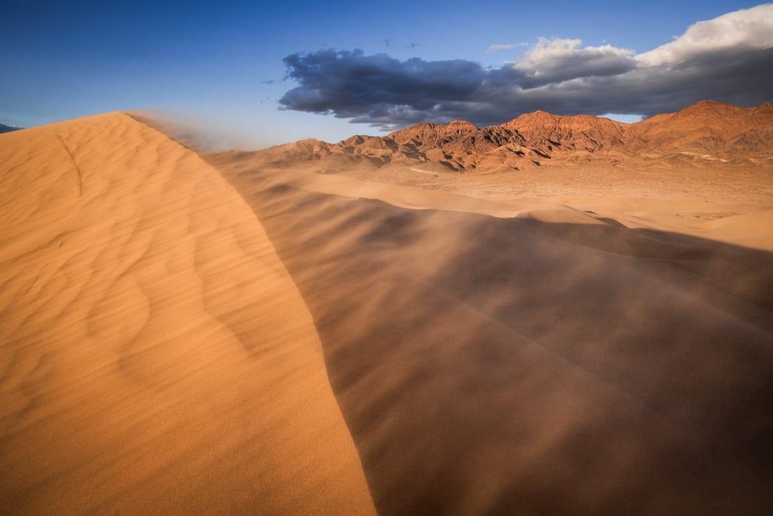 Death Valley Photo Workshop Blowing Sand