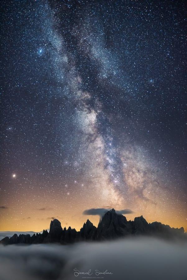 Dolomites Photo Workshop Italy Rifugios mountain huts Milky Way